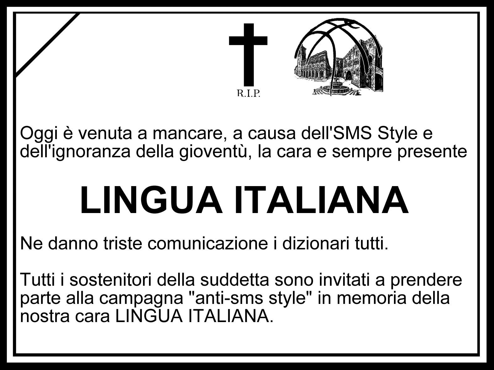 rip lingua italiana - La lingua italiana.